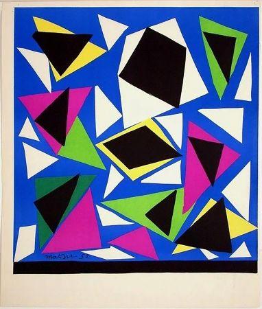 Litografia Matisse - Exposition Galerie Kléber 1952. Épreuve de luxe avant la lettre sur vélin d'Arches