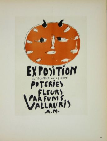 Litografia Picasso (After) - Exposition Poteries Fleurs Parfums 1948