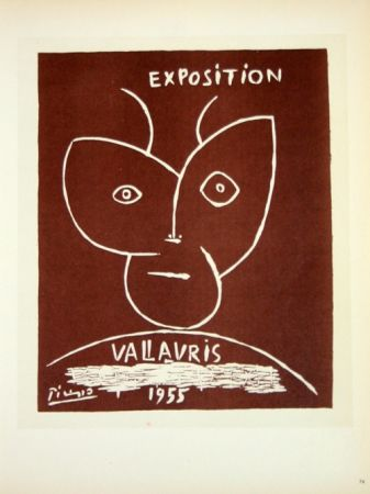 Litografia Picasso (After) - Exposition  Vallauris