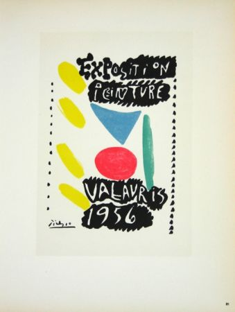 Litografia Picasso (After) - Exposition Vallauris 1956
