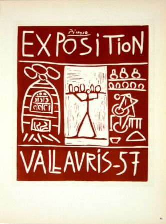 Litografia Picasso (After) - Exposition Vallauris 1957