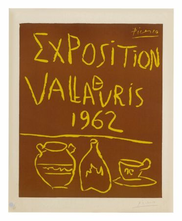 Linoincisione Picasso - Exposition Vallauris 1962