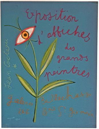 Litografia Cocteau - Expositions D'affiches des Grands Peintre