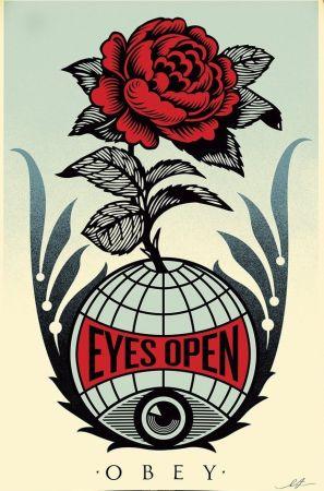 Litografia Fairey - Eyes Open