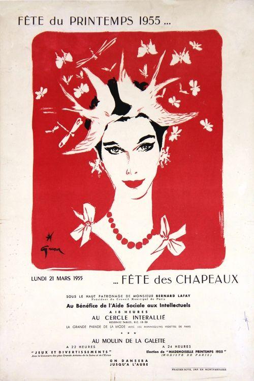 Litografia Gruau - Fête du Printemps,Fête des Chapeaux