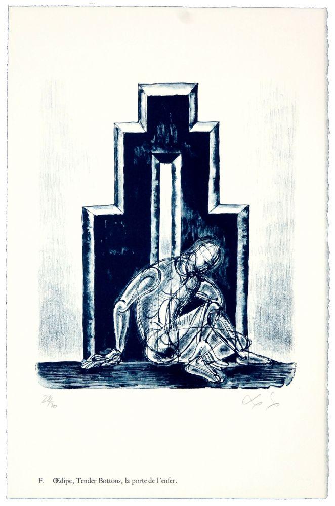 Litografia Nørgaard - F. Œdipe, Tender Bottoms, la porte de l'enfer.