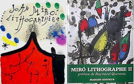 Libro Illustrato Miró - F. Mourlot. - P. Cramer: MIRO LITHOGRAPHE I - IV. 1930 - 1972 (catalogue raisonné des lithographies 1930-1972)
