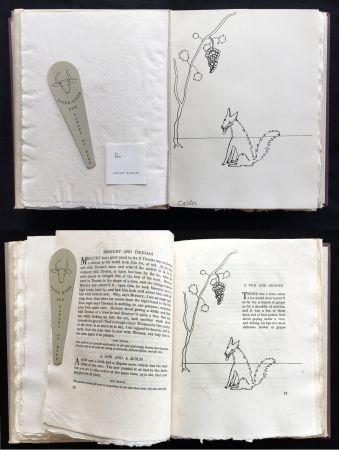 Libro Illustrato Calder - FABLES OF ÆSOP (1931), 1 des 50 avec dessin original.