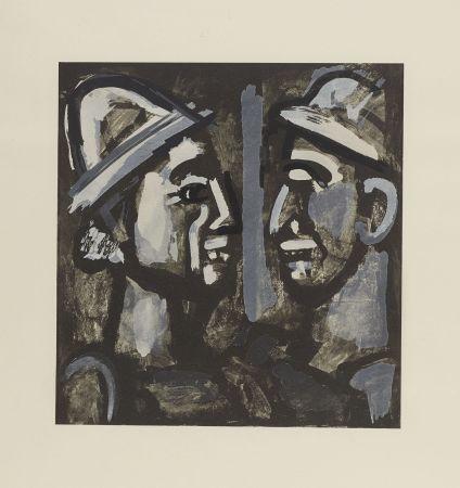 Litografia Rouault - FACE A FACE, 1933