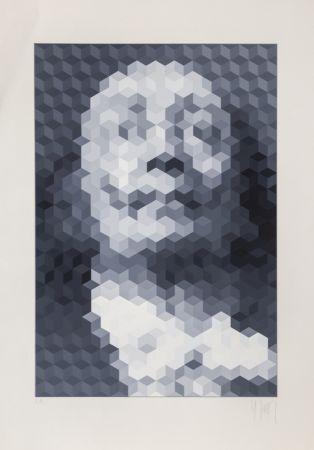 Serigrafia Yvaral - Face of Dali