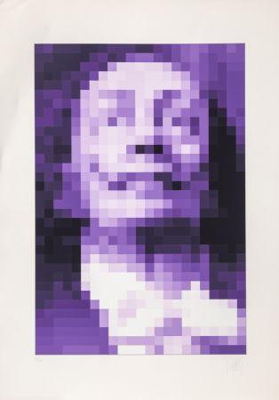 Serigrafia Yvaral - Face of Dali - Purple