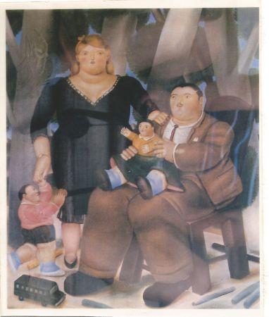Litografia Botero - Familia