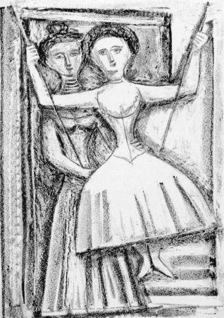 Litografia Campigli - Fedra I