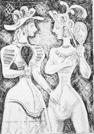 Litografia Campigli - Fedra II