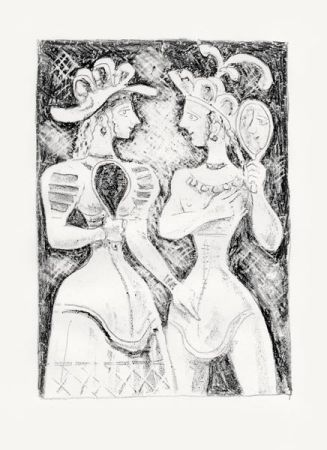 Litografia Campigli - Fedra II (Theseus)