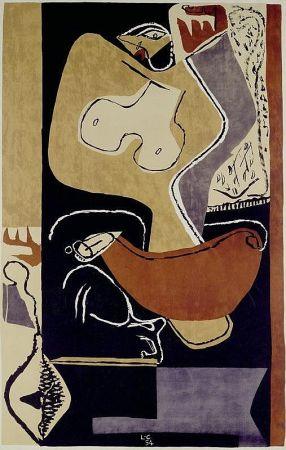 Litografia Le Corbusier - Femme à la main levée –1st edition