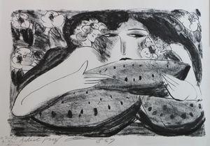 Litografia Ting - Femme A La Pasteque,