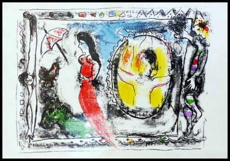 Litografia Chagall - FEMME A L'OMBRELLE