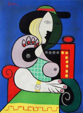 Litografia Picasso - Femme assise avec Montre-Bracelet