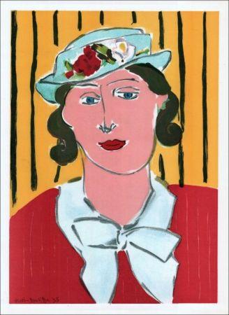 Litografia Matisse - Femme au chapeau