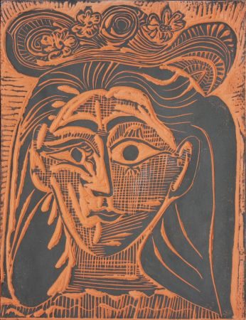 Ceramica Picasso - Femme au Chapeau Fleuri (A.R. 521)