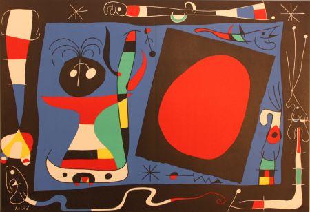 Litografia Miró - Femme Au Miroir