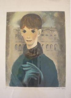 Incisione Lydis - Femme aux gants