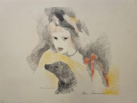 Litografia Laurencin - Femme avec chien