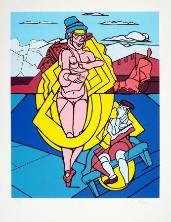 Serigrafia Adami - Femme Et Chien