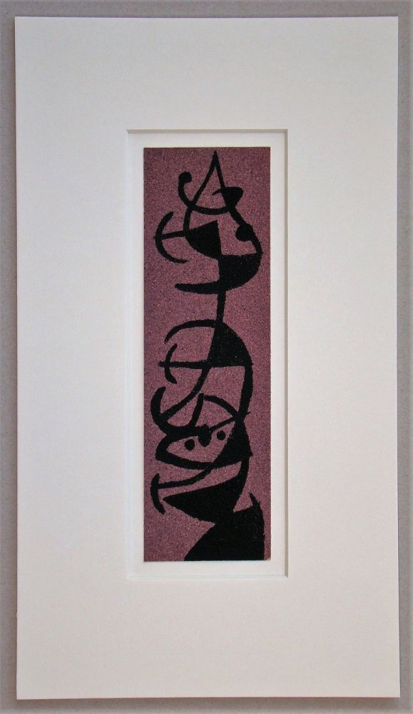 Pochoir Miró - Femme et Oiseau II