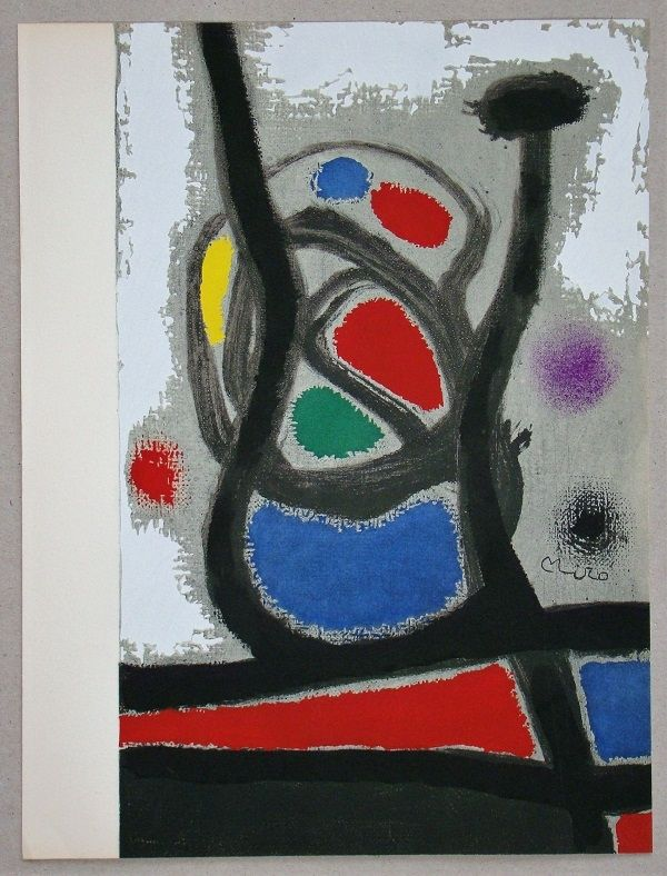 Pochoir Miró - Femme II