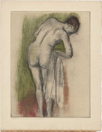 Acquaforte E Acquatinta Degas - Femme nue debout à sa toilette (vers 1880-1890)