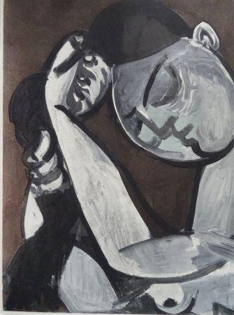 Litografia Picasso (After) - Femme se coiffant