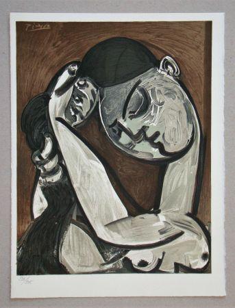 Litografia Picasso - Femme se coiffant, 1955