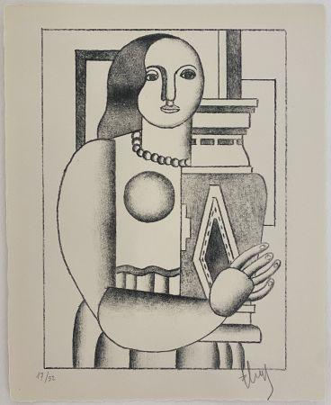 Litografia Leger - Femme tenant un Vase