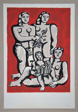 Serigrafia Leger - Femmes et enfants a l'accordeon