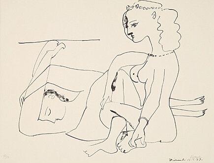 Litografia Picasso - Femmes Sur La Plage