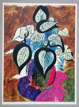 Litografia Braque (After) - Feuillage en couleurs
