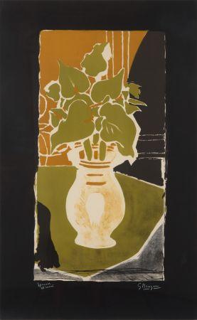 Litografia Braque - Feuilles Couleur Lumière