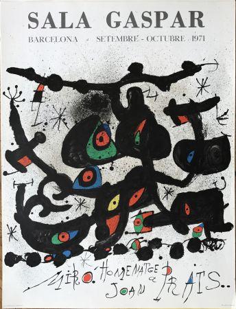 "Litografia Miró - Ffiche pour l' exposition ""Homenatge a Joan Prats"". Sala Gaspar, Barcelona."