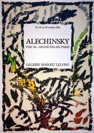 Litografia Alechinsky - '' FIAC 84 ''