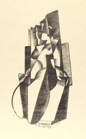 Litografia Prampolini - Figur in Bewegung