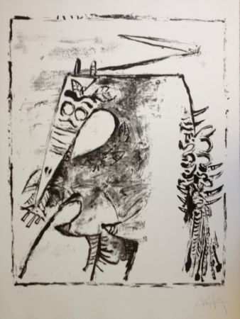 Litografia Lam - Figura
