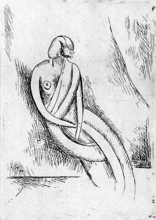 Acquaforte Carra - Figura femminile