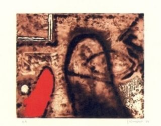 Incisione Guinovart - Figura I Vermell
