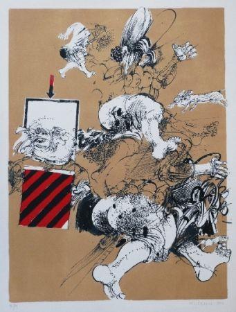 Litografia Velickovic - FIGURE