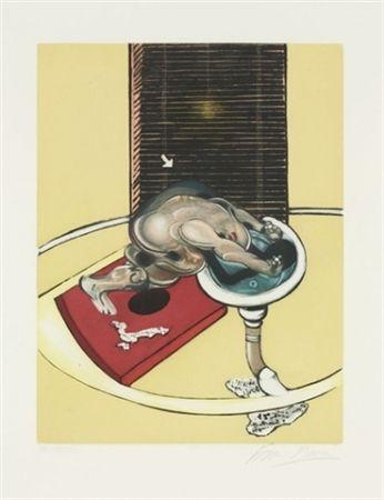 Acquaforte E Acquatinta Bacon - Figure at a washbasin (from Requiem pour la fin des temps)