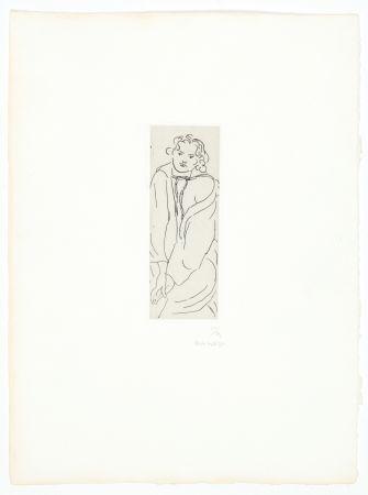 Incisione Matisse - Figure au peignoir