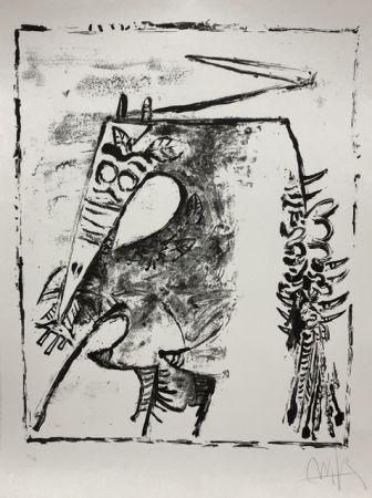 Litografia Lam - Figure blanche et noire