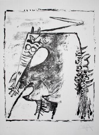 Litografia Lam - Figure blanche et noire (White and Black Figure)